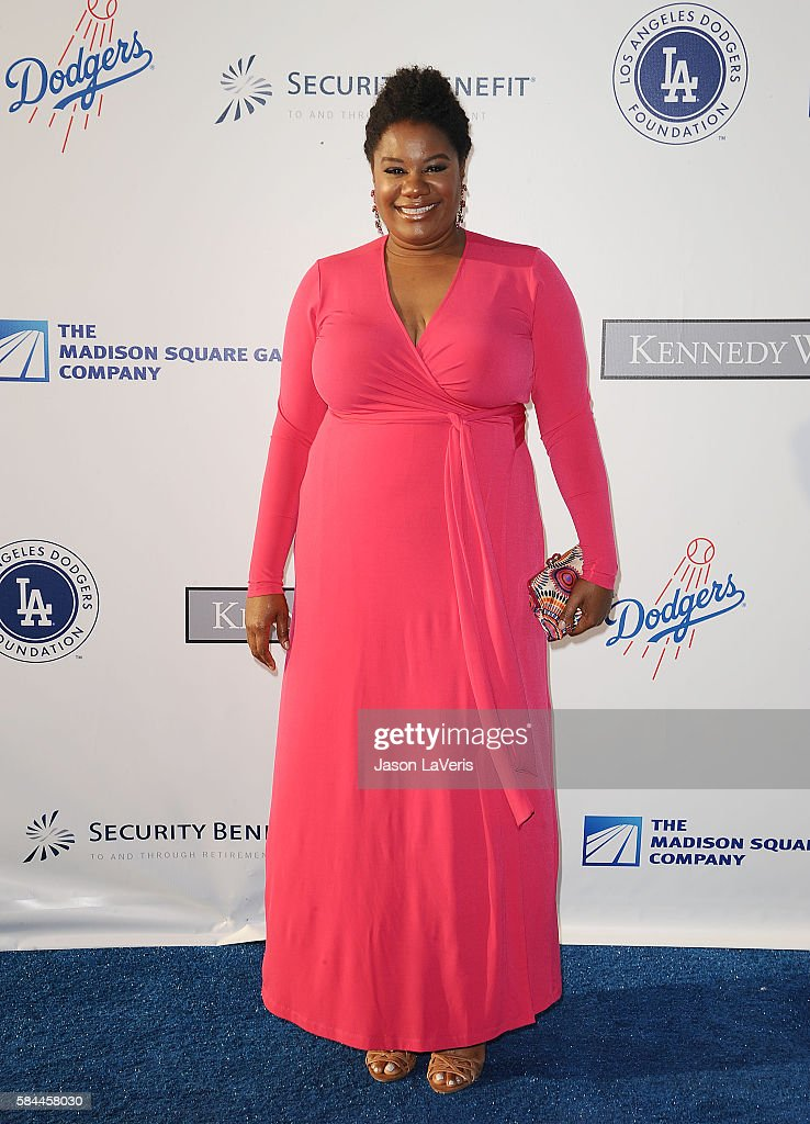 Actress Adrienne C. Moore attends the Los Angeles Dodgers Foundation Blue Diamond gala at Dodger Stadium on July 28, 2016 in Los Angeles, California.