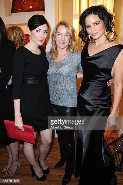 Actress Adrienne Wilkinson actress Renee O'Connor and actress Katrina Law attend TJ Scott's 'In The Tub' Book Party Launch to benefit UCLA's Jonsson...