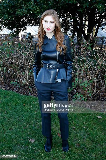 Actress Agathe Bonitzer attends the Christian Dior Spring Summer 2016 show as part of Paris Fashion Week Held at Musee Rodin on January 25 2016 in...