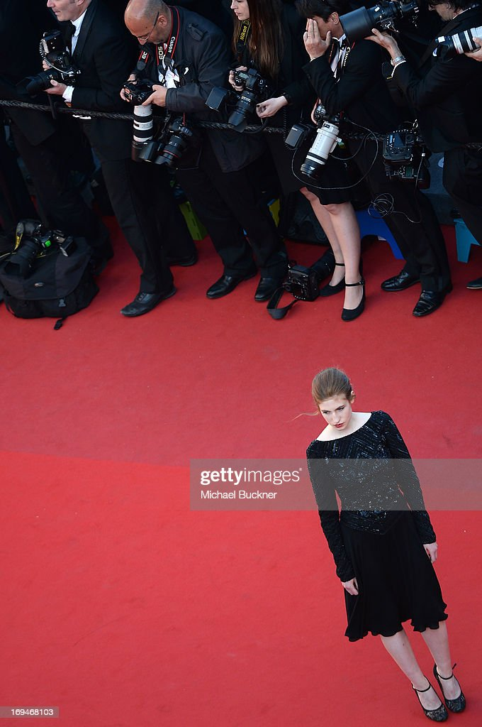 Actress Agathe Bonitzer attends the 'La Venus A La Fourrure' premiere during The 66th Annual Cannes Film Festival at the Palais des Festivals on May 25, 2013 in Cannes, France.
