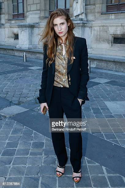 Actress Agathe Bonitzer attends the Sonia Rykiel show as part of the Paris Fashion Week Womenswear Spring/Summer 2017 on October 3 2016 in Paris...