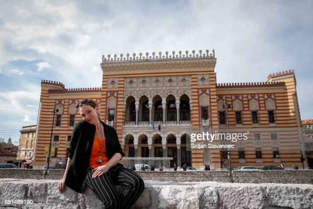 Actress Aglaia Szyszkowitz are seen on set during the shooting of the new documentary series 'Guardians of Heritage Hueter der Geschichte' by German...