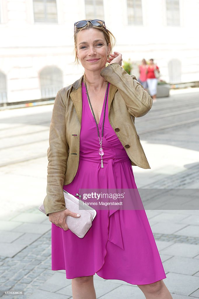 Actress Aglaia Szyszkowitz attends the ZDF Reception during the Munich Film Festival 2013 at H'ugo's on July 2, 2013 in Munich, Germany.