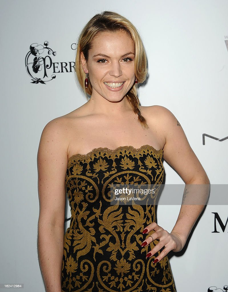 Actress Agnes Bruckner attends the 6th annual Women In Film pre-Oscar cocktail party at Fig & Olive Melrose Place on February 22, 2013 in West Hollywood, California.