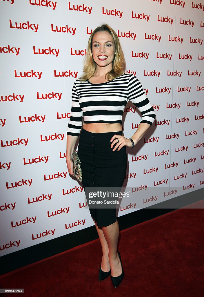 Actress Agnes Bruckner attends the first-ever Lucky Magazine two day FABB West at SLS Hotel on April 4, 2013 in Beverly Hills, California.