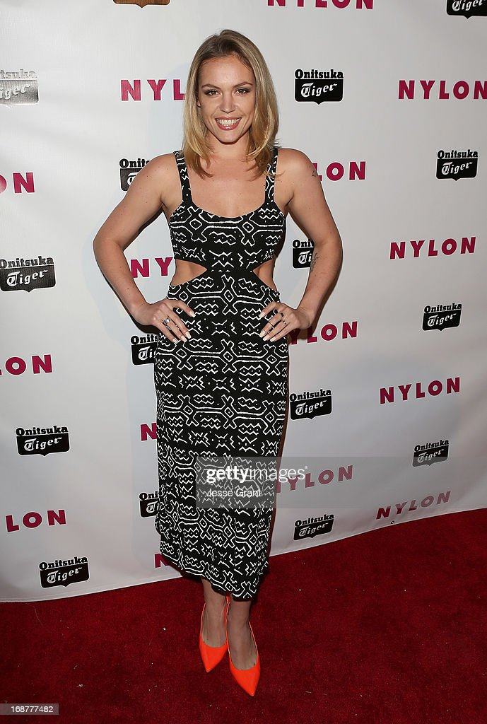 Actress Agnes Bruckner attends the NYLON Magazine Annual May Young Hollywood Issue Party at The Roosevelt Hotel on May 14, 2013 in Hollywood, California.