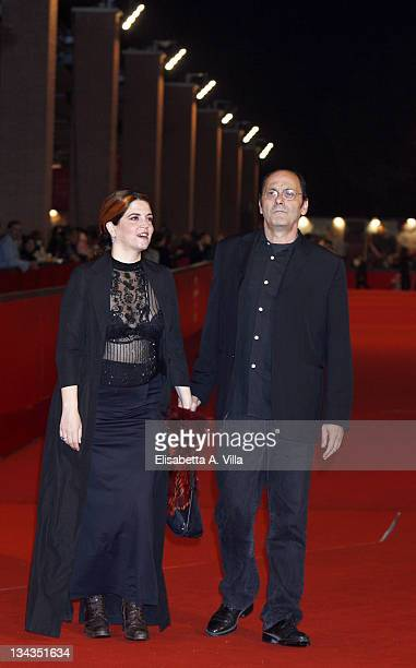 Actress Agnes Jaoui and Jean Pierre Bacri attend the 'Let It Rain' premiere during the 3rd Rome International Film Festival held at the Auditorium...