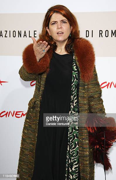 Actress Agnes Jaoui attends the 'Let It Rain' photocall during the 3rd Rome International Film Festival held at the Auditorium Parco della Musica on...