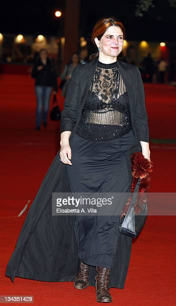 Actress Agnes Jaoui attends the 'Let It Rain' premiere during the 3rd Rome International Film Festival held at the Auditorium Parco della Musica on...