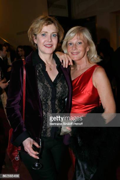 Actress Agnes Soral and Elisa Servier attend the 25th 'Gala de l'Espoir' at Theatre des ChampsElysees on October 17 2017 in Paris France
