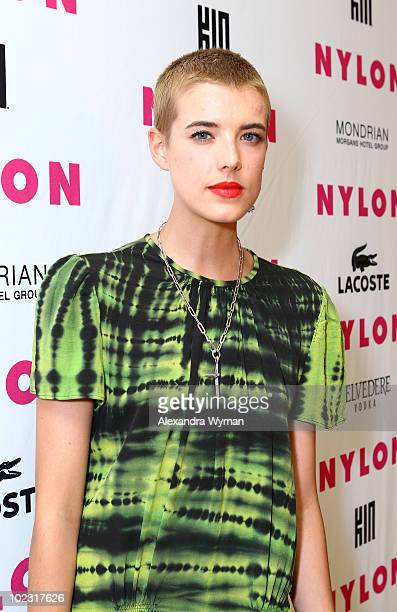 Actress Agyness Deyn arrives at Nylon Magazine's Music Issue party hosted by MIA held at SkyBar in the Mondrian Hotel Los Angeles on June 22 2010 in...