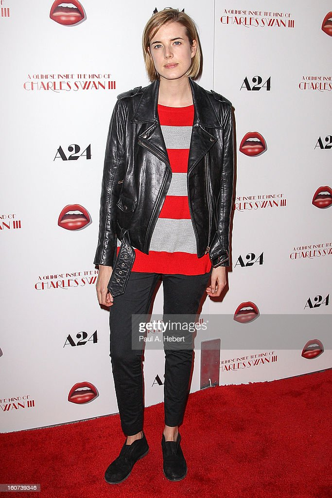 Actress Agyness Deyn arrives at the premiere of A24's 'A Glimpse Inside The Mind of Charles Swan III' held at the ArcLight Hollywood on February 4, 2013 in Hollywood, California.