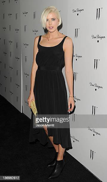 Actress Agyness Deyn arrives at the W Magazine Best Performances Issue and The Golden Globes celebration hosted by Dom Perignon and W Magazine held...