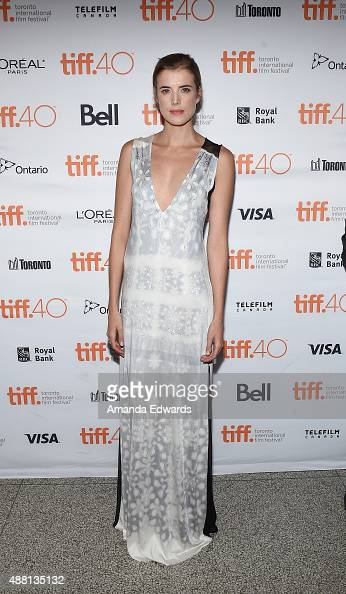Actress Agyness Deyn attends the 'Sunset Song' photo call during the 2015 Toronto International Film Festival at Winter Garden Theatre on September...