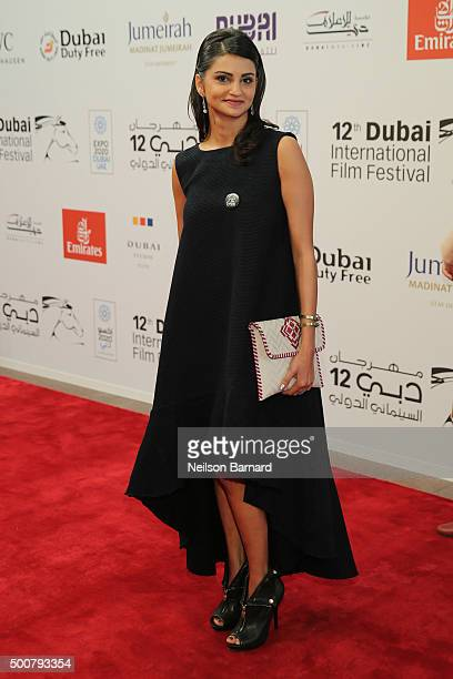Actress Ahd Kamel attends the 'Zinzana ' premiere during day two of the 12th annual Dubai International Film Festival held at the Madinat Jumeriah...