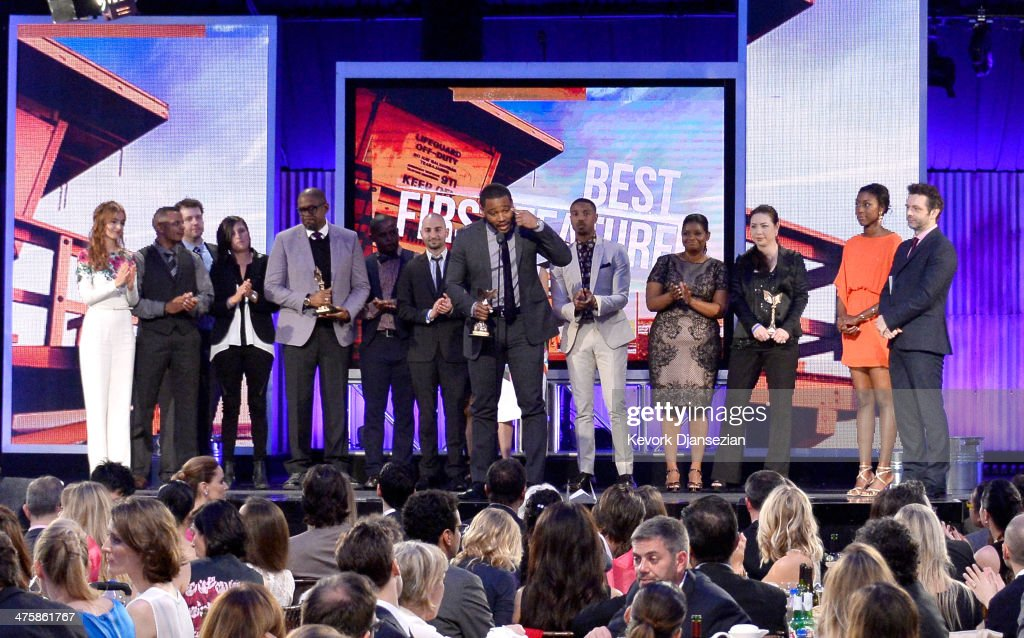 Actress Ahna O'Reilly actor/producer Forest Whitaker director Ryan Coogler actors Michael B Jordan and Octavia Spencer and cast/crewmembers accept...