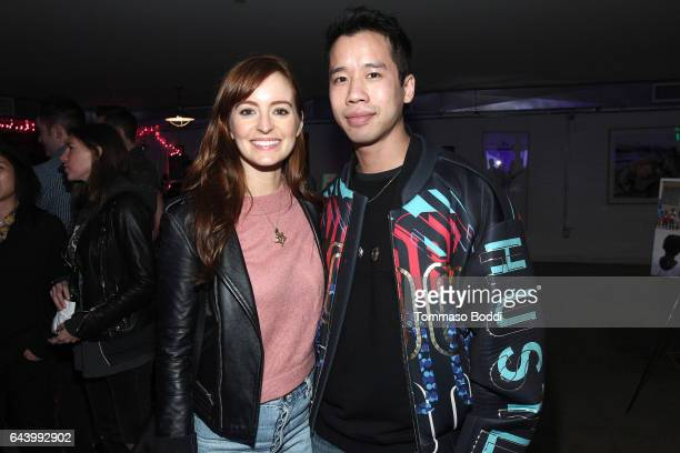 Actress Ahna O'Reilly and Jared Eng attend The World Wide Orphans Foundation Annual Night Of Play Charity Event In Los Angeles at UCB Sunset Theater...
