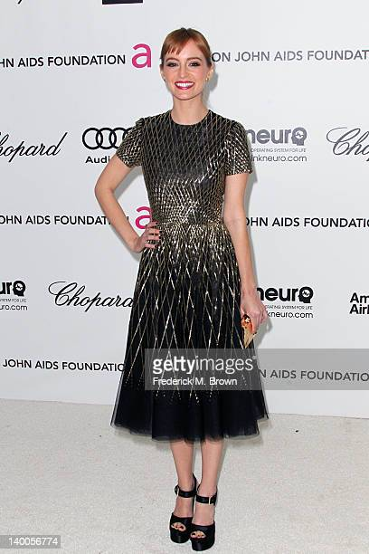 Actress Ahna O'Reilly arrives at the 20th Annual Elton John AIDS Foundation's Oscar Viewing Party held at West Hollywood Park on February 26 2012 in...