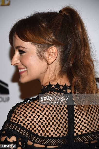 Actress Ahna O'Reilly arrives at the premiere of Momentum Pictures' 'In Dubious Battle' at ArcLight Hollywood on February 15 2017 in Hollywood...