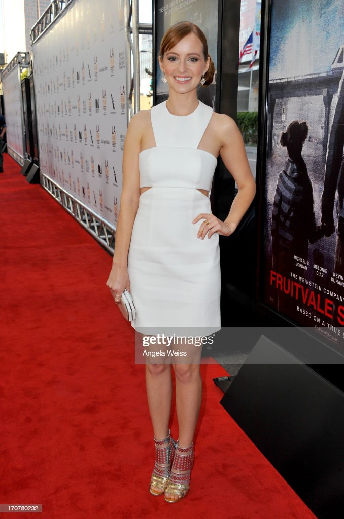 Actress Ahna O'Reilly arrives at the premiere of The Weinstein Company's 'Fruitvale Station' during the 2013 Los Angeles Film Festival at Regal Cinemas L.A. Live on June 17, 2013 in Los Angeles, California.