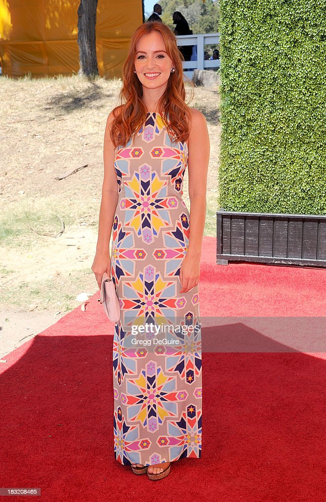 Actress Ahna O'Reilly arrives at the Veuve Clicquot Polo Classic at Will Rogers State Historic Park on October 5, 2013 in Pacific Palisades, California.