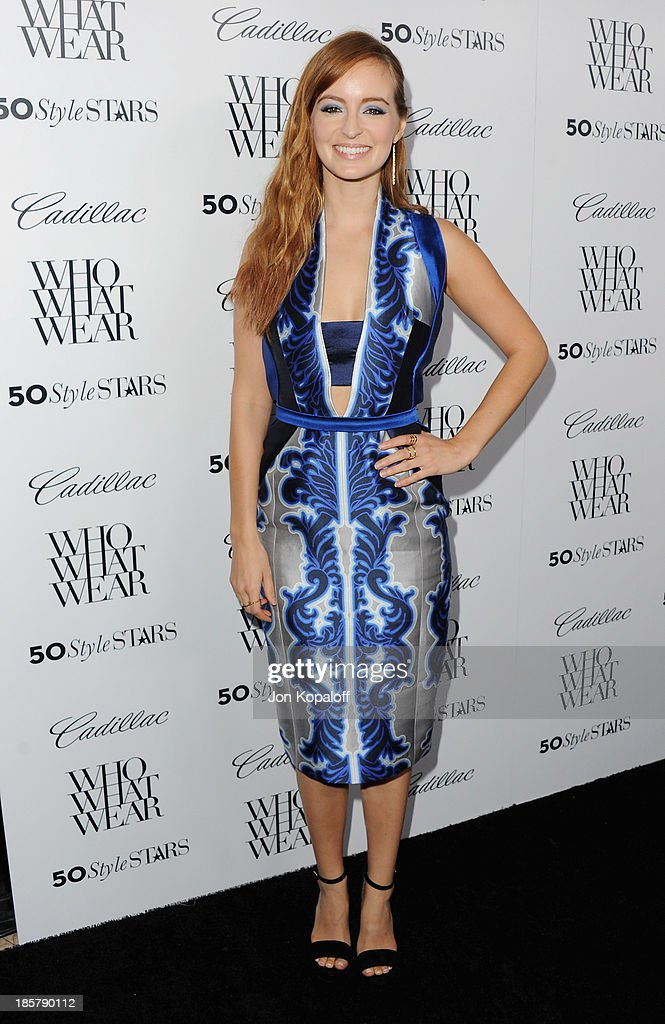 Actress Ahna O'Reilly arrives at Who What Wear And Cadillac's 50 Most Fashionable Women Of 2013 at The London Hotel on October 24, 2013 in West Hollywood, California.