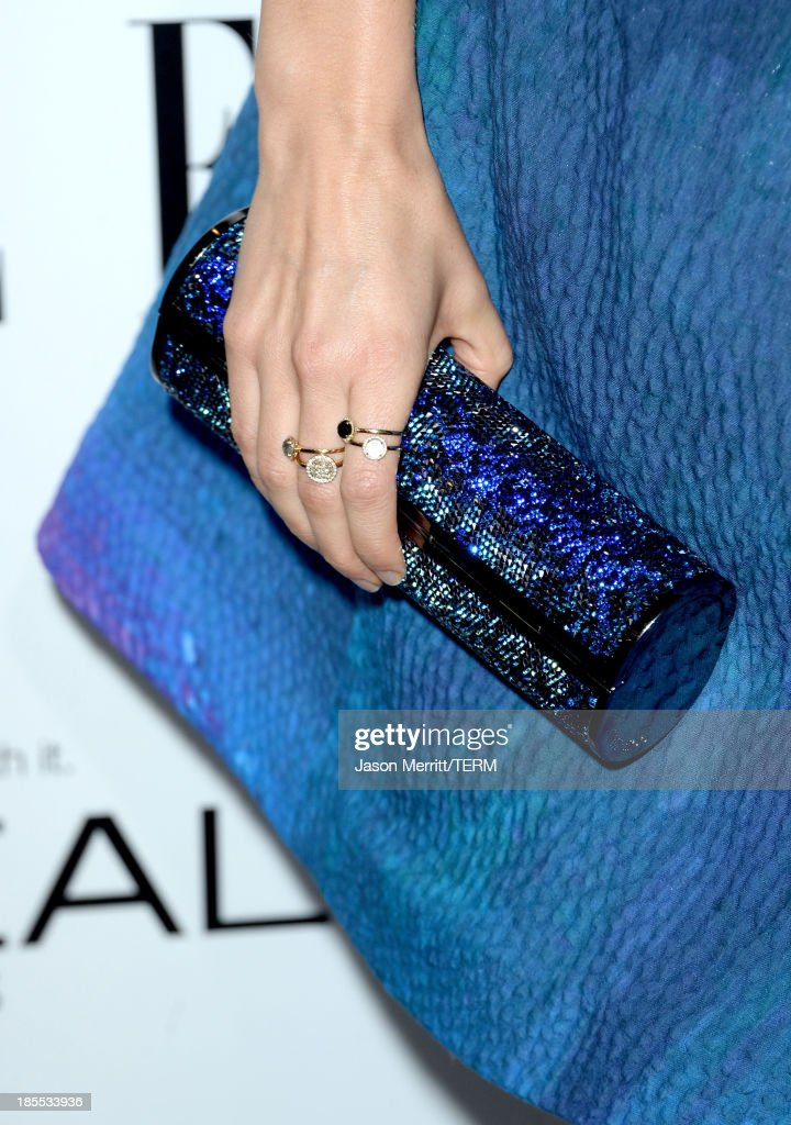 Actress Ahna O'Reilly (fashion detail) attends ELLE's 20th Annual Women In Hollywood Celebration at Four Seasons Hotel Los Angeles at Beverly Hills on October 21, 2013 in Beverly Hills, California.