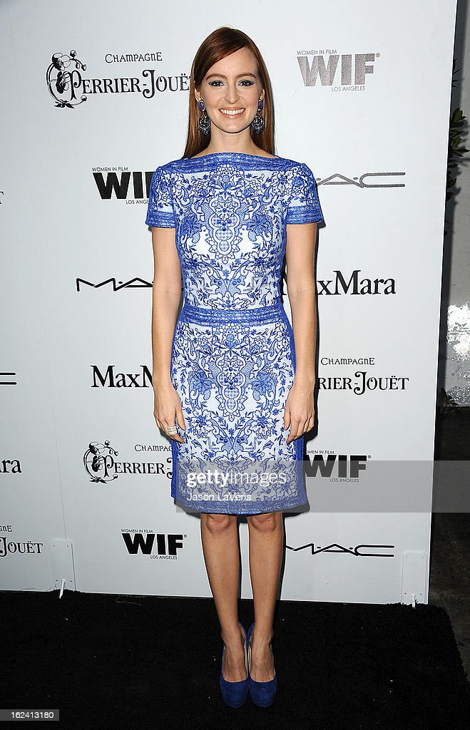 Actress Ahna O'Reilly attends the 6th annual Women In Film pre-Oscar cocktail party at Fig & Olive Melrose Place on February 22, 2013 in West Hollywood, California.