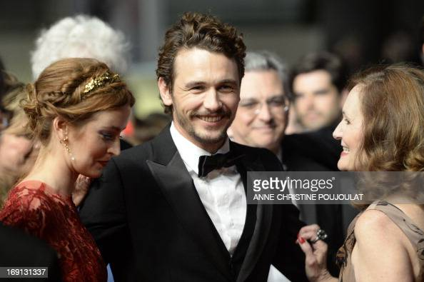 US actress Ahna O'Reilly director and actor James Franco and actress Beth Grant arrive on May 20 2013 for the screening of the film 'As I Lay Dying'...