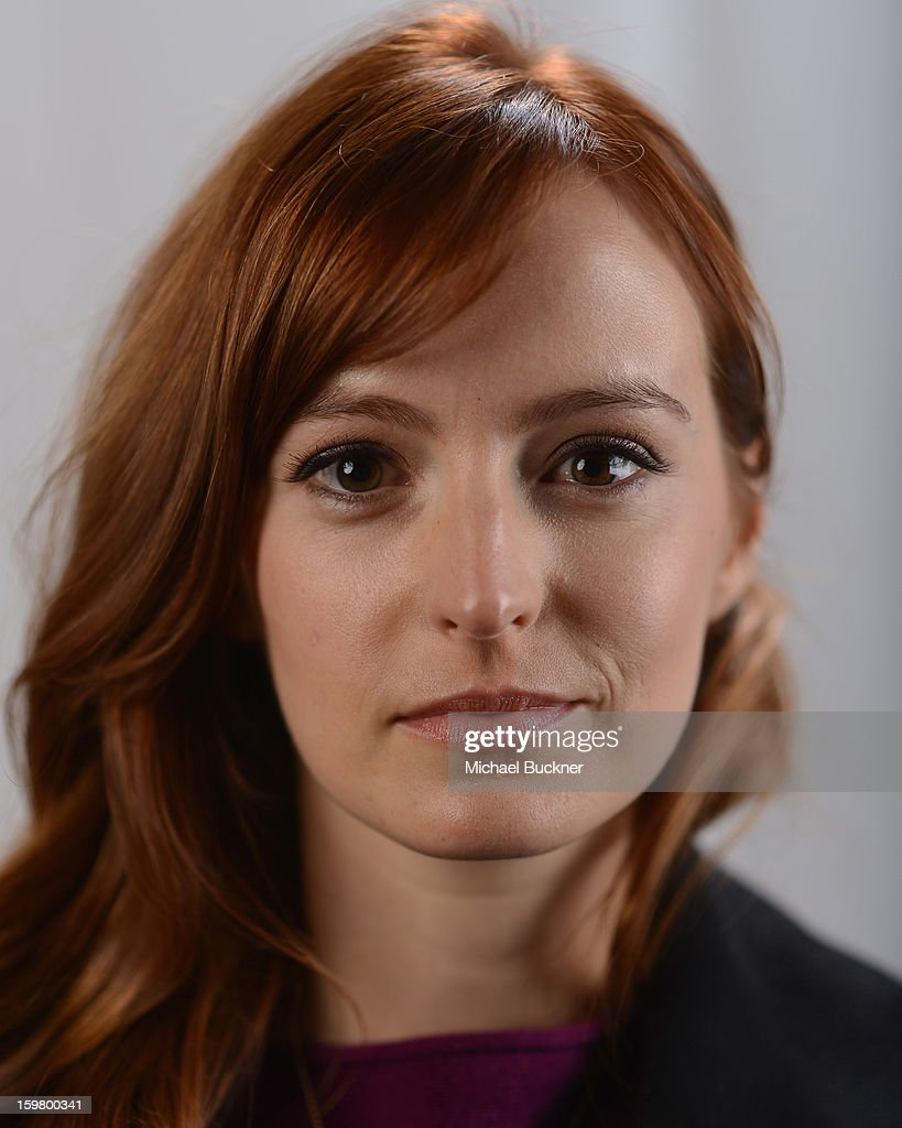 Actress Ahna O'Reilly poses for a portrait at the photo booth for MSN Wonderwall at ChefDance on January 20, 2013 in Park City, Utah.