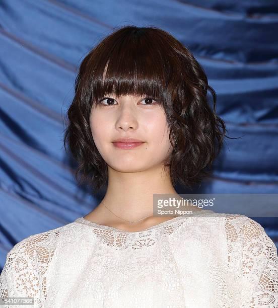 Actress Ai Hashimoto attends press conference of 'Home Itoshi no Zashiki Warashi' on May 5 2012 in Tokyo Japan