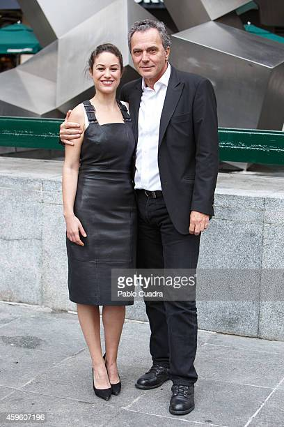Actress Aida Folch and actor Jose Coronado pose during a photocall to present 'Fuego' on November 26 2014 in Madrid Spain