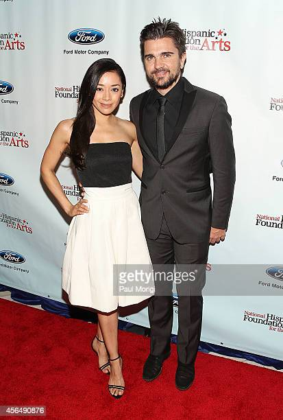 Actress Aimee Garcia and musical artist Juanes attend the 18th annual Noche De Gala for the National Hispanic Foundation for the Arts at Renaissance...
