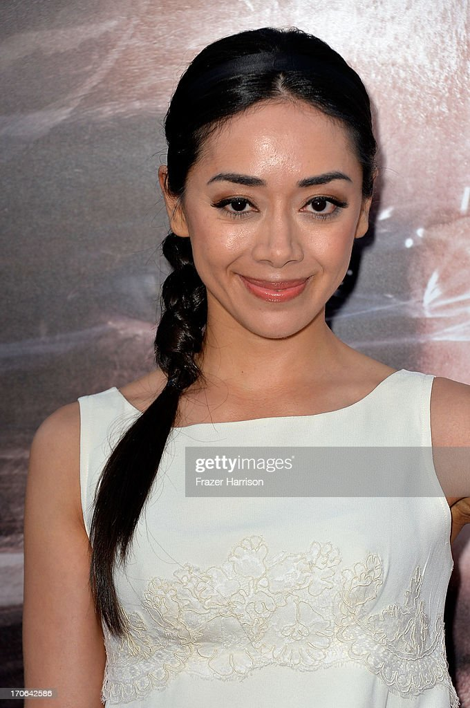 Actress <a gi-track='captionPersonalityLinkClicked' href=/galleries/search?phrase=Aimee+Garcia&family=editorial&specificpeople=561569 ng-click='$event.stopPropagation()'>Aimee Garcia</a> arrives at the Showtime Celebrates 8 Seasons Of 'Dexter' at Milk Studios on June 15, 2013 in Hollywood, California.