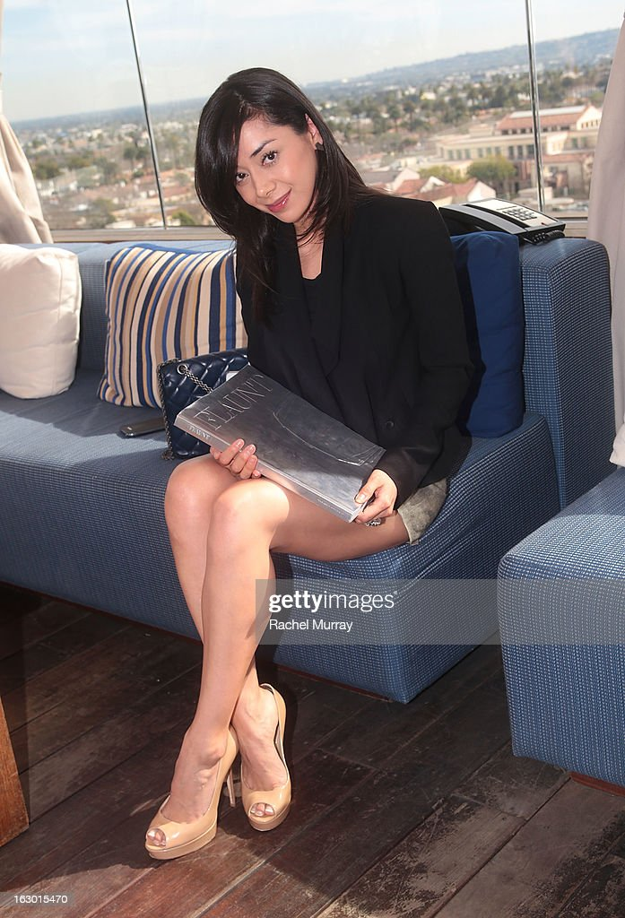 Actress <a gi-track='captionPersonalityLinkClicked' href=/galleries/search?phrase=Aimee+Garcia&family=editorial&specificpeople=561569 ng-click='$event.stopPropagation()'>Aimee Garcia</a> attends Flaunt Magazine and Samsung Galaxy celebrate The Plutocracy Issue release hosted by cover Russell Westbrook at Caulfield's Bar and Dining Room at Thompson Hotel on March 2, 2013 in Beverly Hills, California.