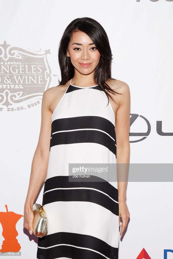 Actress <a gi-track='captionPersonalityLinkClicked' href=/galleries/search?phrase=Aimee+Garcia&family=editorial&specificpeople=561569 ng-click='$event.stopPropagation()'>Aimee Garcia</a> attends LEXUS Live On Grand At The 3rd Annual Los Angeles Food & Wine Festival on August 24, 2013 in Los Angeles, California.