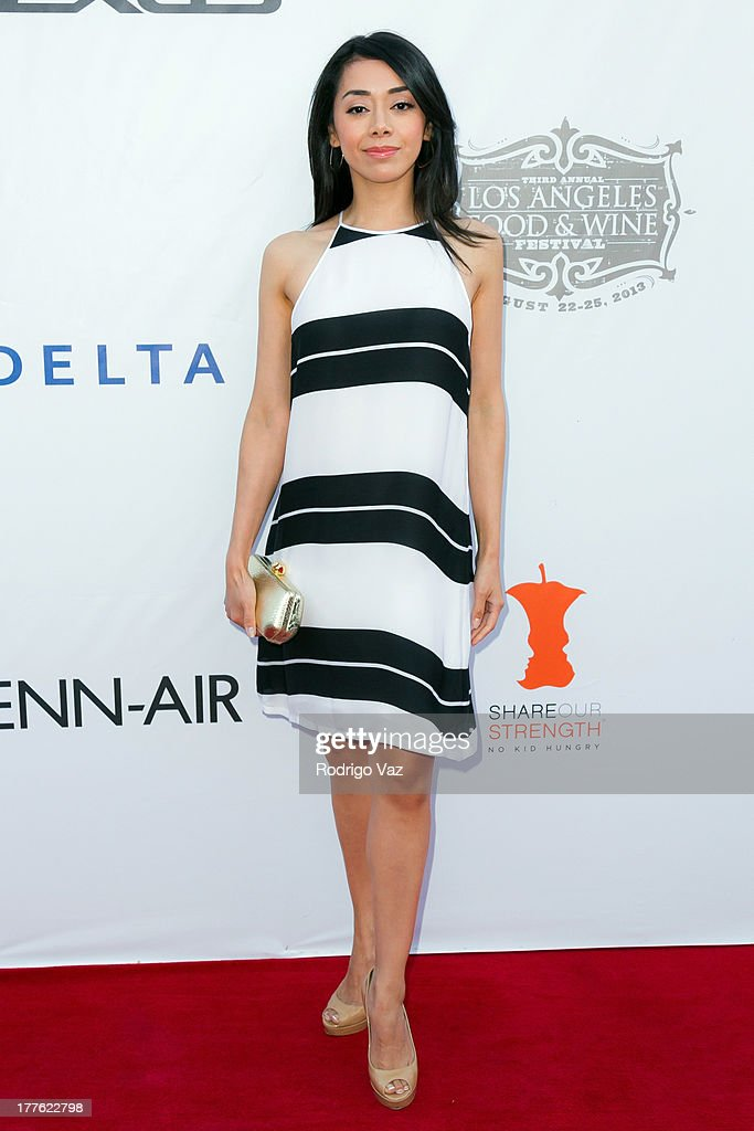Actress Aimee Garcia attends LEXUS Live On Grand at the 3rd Annual Los Angeles Food & Wine Festival arrivals on August 24, 2013 in Los Angeles, California.