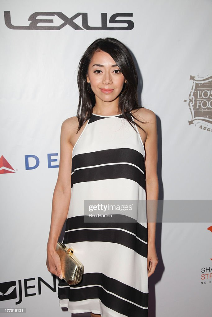 Actress Aimee Garcia attends LEXUS Live on Grand hosted by Curtis Stone at the third annual Los Angeles Food & Wine Festival on August 24, 2013 in Los Angeles, California.