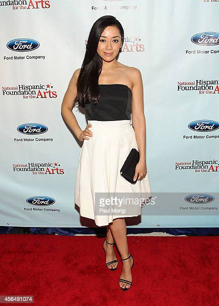 Actress Aimee Garcia attends the 18th annual Noche De Gala for the National Hispanic Foundation for the Arts at Renaissance Mayflower Hotel on...