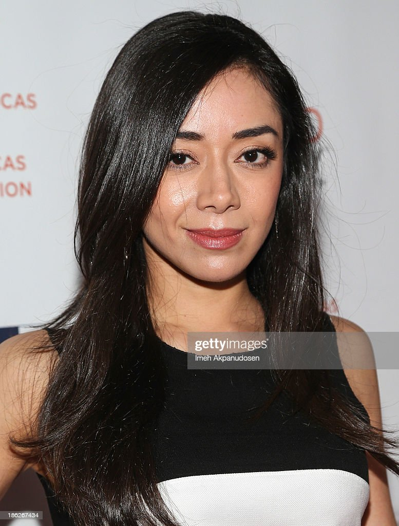 Actress <a gi-track='captionPersonalityLinkClicked' href=/galleries/search?phrase=Aimee+Garcia&family=editorial&specificpeople=561569 ng-click='$event.stopPropagation()'>Aimee Garcia</a> attends the 3rd Annual Share Our Strength No Kid Hungry Los Angeles Dinner at Ron Burkle's Green Acres Estate on October 29, 2013 in Beverly Hills, California.