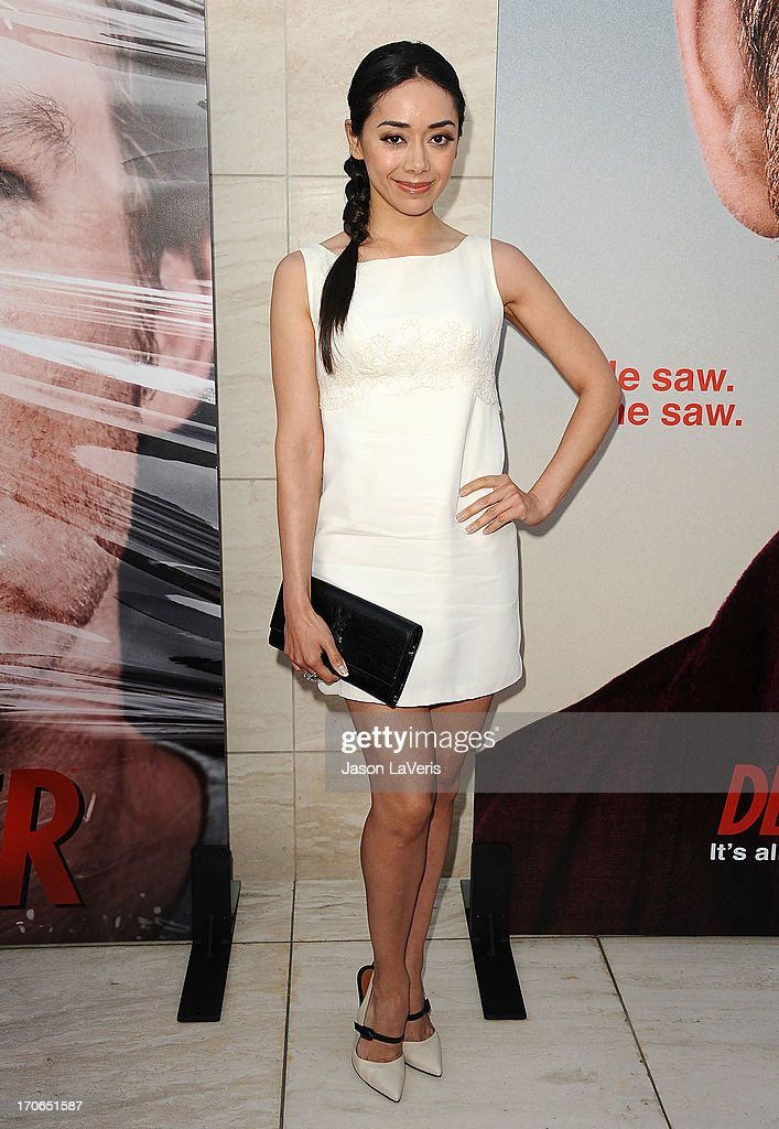 Actress <a gi-track='captionPersonalityLinkClicked' href=/galleries/search?phrase=Aimee+Garcia&family=editorial&specificpeople=561569 ng-click='$event.stopPropagation()'>Aimee Garcia</a> attends the 'Dexter' series finale season premiere party at Milk Studios on June 15, 2013 in Hollywood, California.