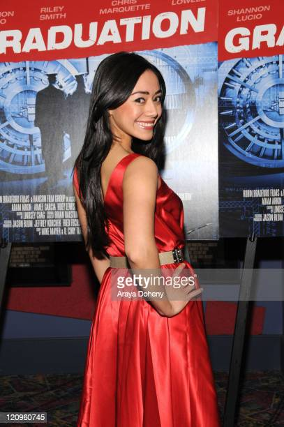 Actress Aimee Garcia attends the 'Graduation' movie premiere at the Landmark Embarcadero Theatre May 1 2008 in San Francisco California