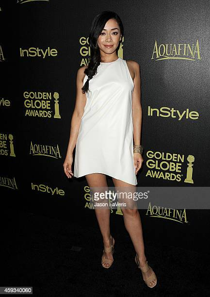 Actress Aimee Garcia attends the Hollywood Foreign Press Association and InStyle's celebration of the 2015 Golden Globe award season at Fig Olive...