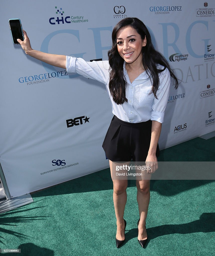 Actress Aimee Garcia attends the Ninth Annual George Lopez Celebrity Golf Classic at Lakeside Golf Club on May 2, 2016 in Burbank, California.