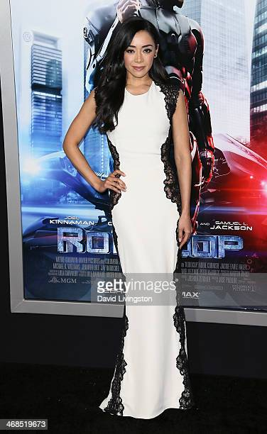 Actress Aimee Garcia attends the premiere of Columbia Pictures' 'Robocop' at the TCL Chinese Theatre on February 10 2014 in Hollywood California