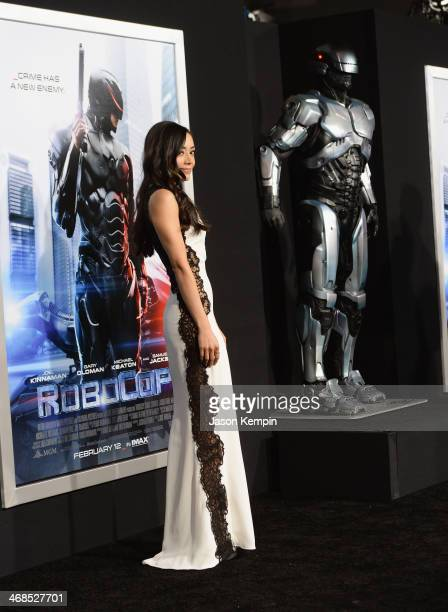 Actress Aimee Garcia attends the premiere of Columbia Pictures' 'Robocop' on February 10 2014 in Hollywood California