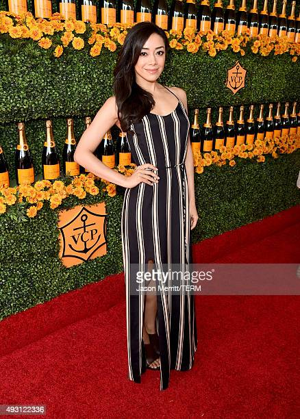 Actress Aimee Garcia attends the SixthAnnual Veuve Clicquot Polo Classic at Will Rogers State Historic Park on October 17 2015 in Pacific Palisades...