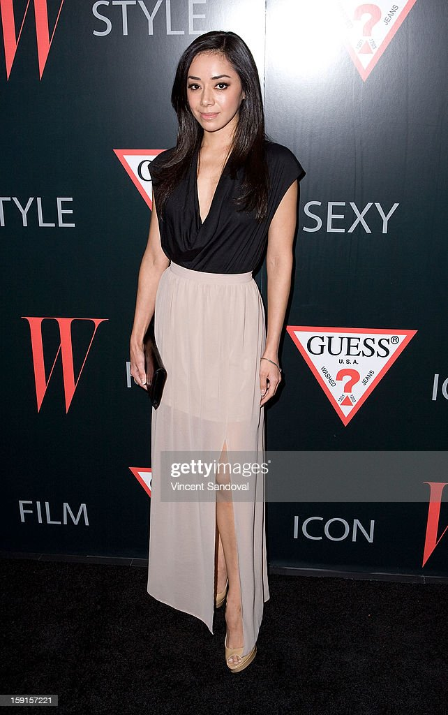 Actress Aimee Garcia attends W Magazine and Guess celebrating 30 years of fashion and film and the next generation of style icons at Laurel Hardware on January 8, 2013 in West Hollywood, California.