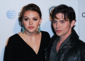 Actress Aimee Teegarden and actor Jackson Rathbone arrive at Cambio Warner Bros Digital Distribution Celebrate Premiere of the 1st Social Series 'Aim...