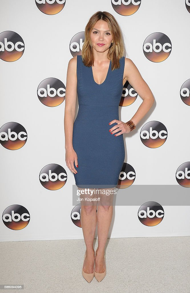 Actress Aimee Teegarden arrives at Disney ABC Television Group Hosts TCA Summer Press Tour at the Beverly Hilton Hotel on August 4 2016 in Beverly...